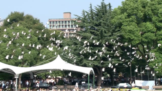 A memorial ceremony was held at the Peace Memorial Park in Hiroshima on Aug 6 the 70th anniversary of the US atomic bombing of the western Japan city...