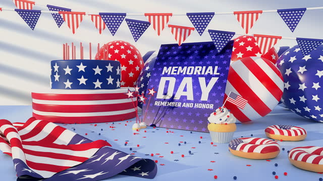 us memorial day - 4k resolution - top hat stock videos & royalty-free footage