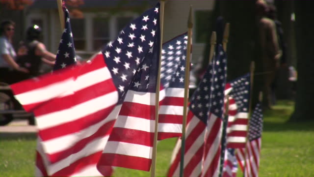 us memorial day. american culture. war, love, honor, patriotism. - us memorial day stock videos & royalty-free footage