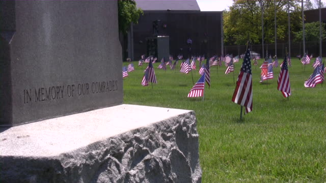 memorial day. american flag & culture. war cemetery. honor, patriotism. - us memorial day stock videos & royalty-free footage