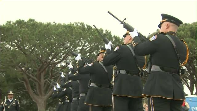 memorial day observance at green hills memorial park in palos verdes. - palos verdes stock videos & royalty-free footage