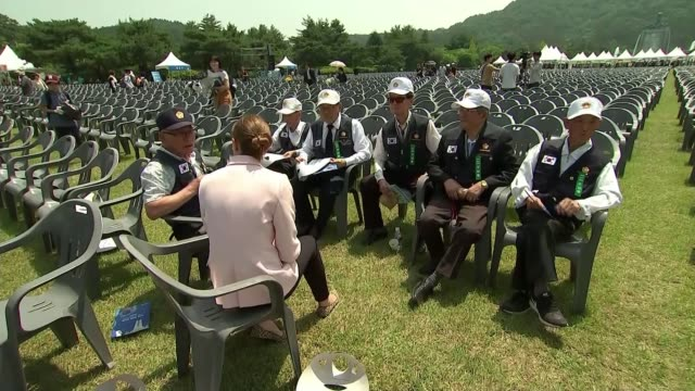 Memorial Day remembers those killed in Korean War as hopes rise of formal end to the conflict SOUTH KOREAN Daejeon EXT South Korean soldier at the...