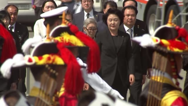 Memorial Day remembers those killed in Korean War as hopes rise of formal end to the conflict SOUTH KOREA Daejeon EXT President Moon Jaein and others...