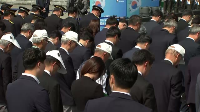 Memorial Day remembers those killed in Korean War as hopes rise of formal end to the conflict SOUTH KOREA Daejeon EXT Various of people gathered for...