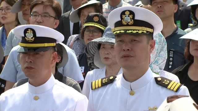 Memorial Day remembers those killed in Korean War as hopes rise of formal end to the conflict SOUTH KOREAN Daejeon EXT South Korean Navy sailors and...