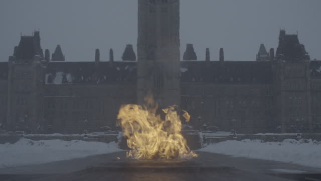 memorial fire on parliament hill - parliament hill stock videos & royalty-free footage