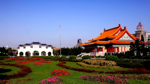 cks memorial  hall - chiang kaishek memorial hall stock videos & royalty-free footage