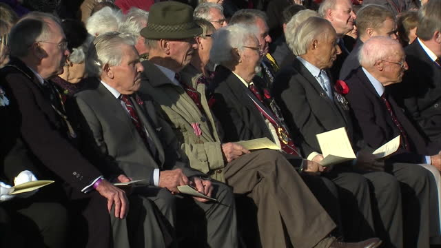 a memorial honoring injured servicemen who underwent experimental plastic surgery during world war two has been unveiled by the duke of edinburgh the... - remembrance sunday stock videos and b-roll footage