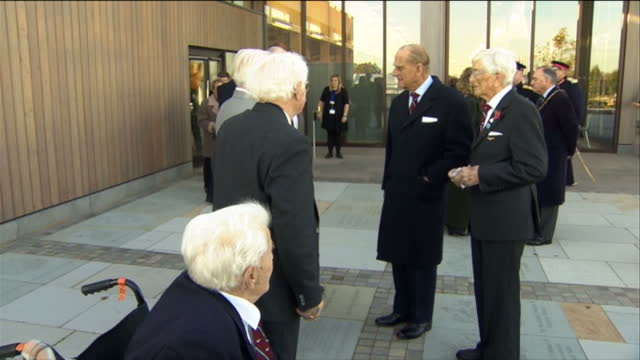 a memorial honoring injured servicemen who underwent experimental plastic surgery during world war two has been unveiled by the duke of edinburgh the... - lichfield stock videos & royalty-free footage