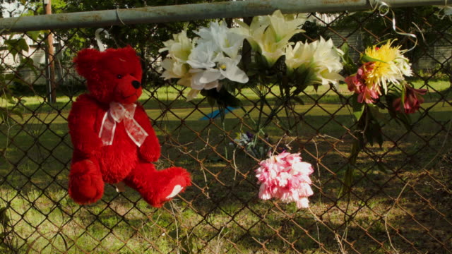 A memorial is seen at the site where Walter Scott was killed on April 11 2015 in North Charleston South Carolina Mr Scott was killed on April 4 by...