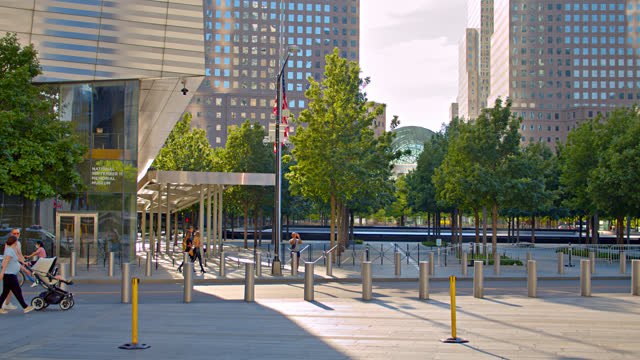 9/11 memorial. manhattan downtown. - september 11 2001 attacks stock videos & royalty-free footage