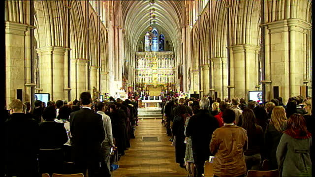 Memorial service held for eighth anniversary of Damilola Taylor's death John Sentamu speech and prayer SOT Gordon Brown and wife Sarah Brown with...