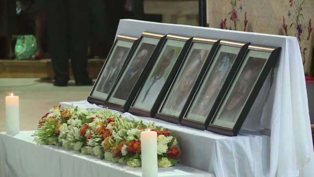 a memorial service in being held in nairobi in honour of the 6 staff killed in the nairobi terror attack - ehre stock-videos und b-roll-filmmaterial