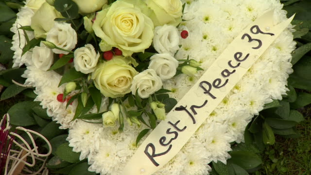 a memorial to the 39 victims who suffocated inside a lorry in grays essex - victim stock videos & royalty-free footage