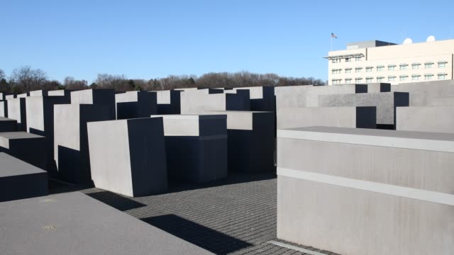 memorial to the murdered jews of europe in berlin - us embassy stock videos & royalty-free footage