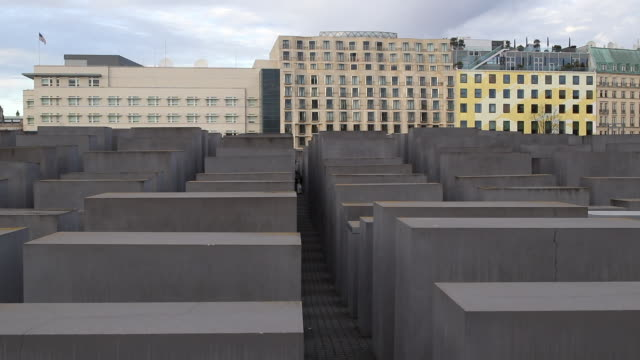memorial to the murdered jews of europe - us embassy stock videos & royalty-free footage