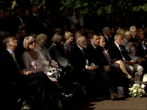 prince charles and camilla unveil sculpture and attend memorial ceremony **phono richard alston reading out names of australians who died in bomb... - memorial event stock videos and b-roll footage