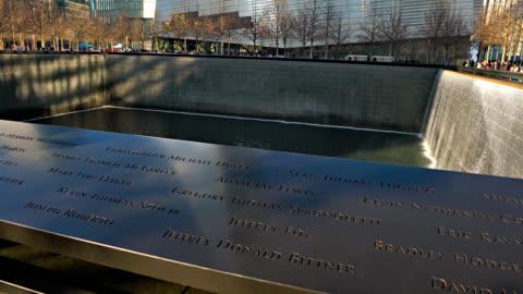 9/11 memorial - memorial video stock e b–roll