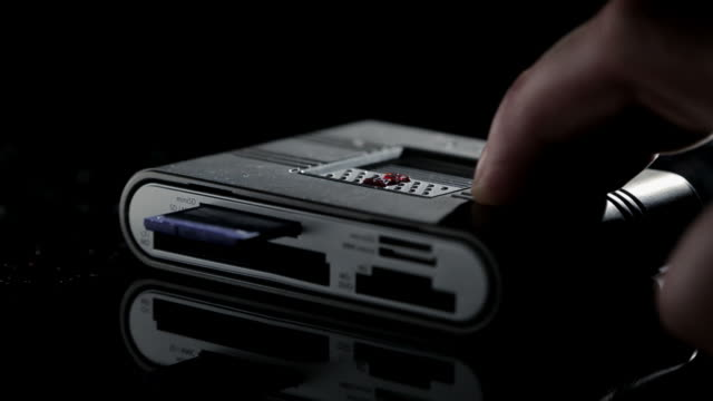 Memory Card Reader on black
