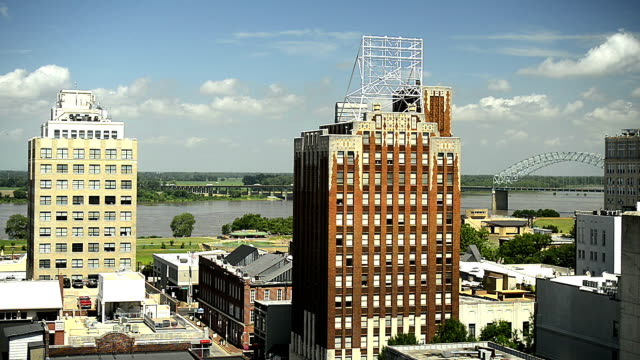 skyline von memphis - memphis tennessee stock-videos und b-roll-filmmaterial