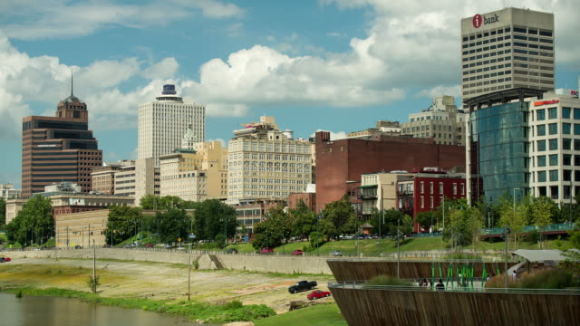 memphis skyline - tennessee stock videos & royalty-free footage