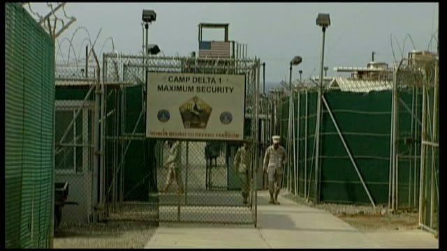 Men accused of planning 9/11 attacks plead guilty at Guantanamo Bay pretrial hearing Dates Unknown Guantanamo Bay Camp Delta EXT Entrance to...