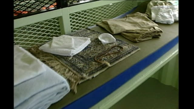 Men accused of planning 9/11 attacks plead guilty at Guantanamo Bay pretrial hearing CUBA Guantanamo Bay US Naval Base Camp Delta INT Prison cell...