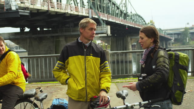 ms men and woman riding bicycles / portland, oregon, usa - see other clips from this shoot 1695 stock videos & royalty-free footage