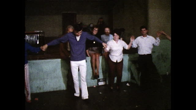 men and women dancing in the usa; 1972 - couple relationship stock videos & royalty-free footage
