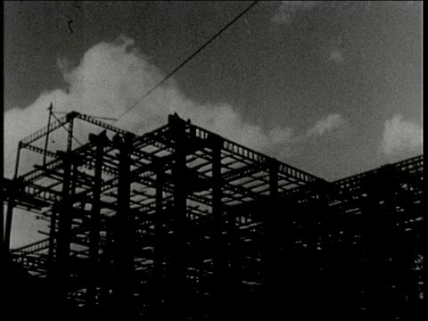 stockvideo's en b-roll-footage met montage men and women do manual labor constructing buildings / manchuria - 1938