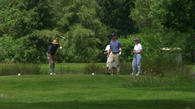 men and women golfers - see other clips from this shoot 1271 stock videos and b-roll footage