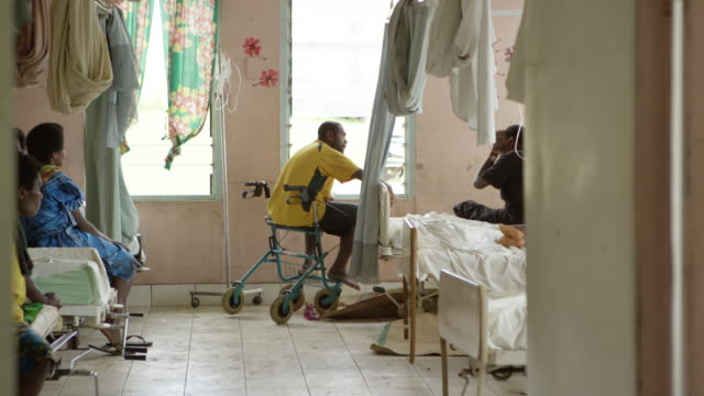 vanuatu - march 30, 2015: men and women in hospital ward - pacific islands stock videos & royalty-free footage