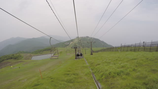 men and women of the couple is riding in the lift - shiga prefecture stock videos & royalty-free footage