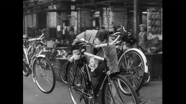men and women together working in bicycle factory; 1952 - 1952 stock videos & royalty-free footage