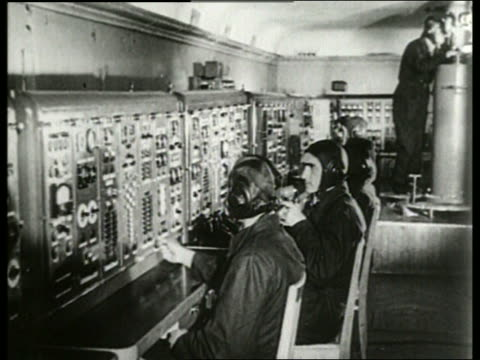 men at control panel in soviet mission control / sound - 1965 stock videos & royalty-free footage