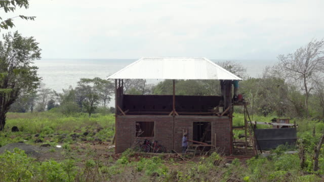men building house at latin america - nicaragua stock videos and b-roll footage