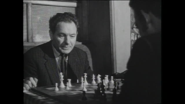 men drink and play chess, mandrake club; 1959 - 1959 stock videos & royalty-free footage