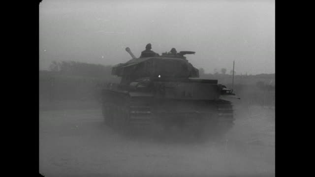 men drive tank; 1956 - british military stock videos & royalty-free footage