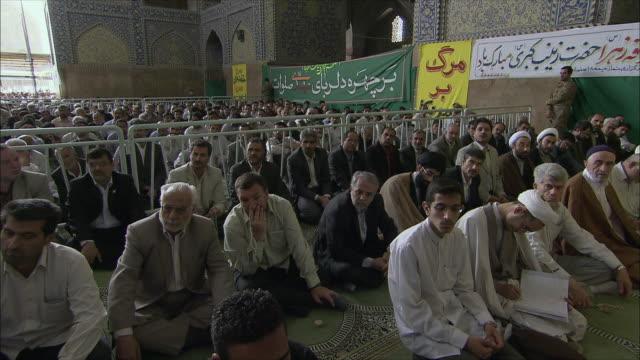 WS PAN Men during Friday prayers in Imam Mosque, Esfahan, Iran