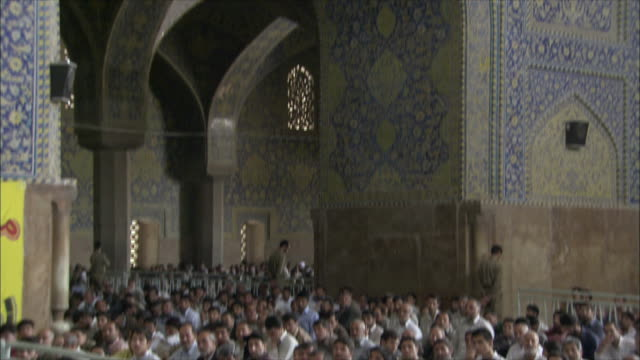 ms tu td men during friday prayers in imam mosque, esfahan, iran - friday stock videos & royalty-free footage