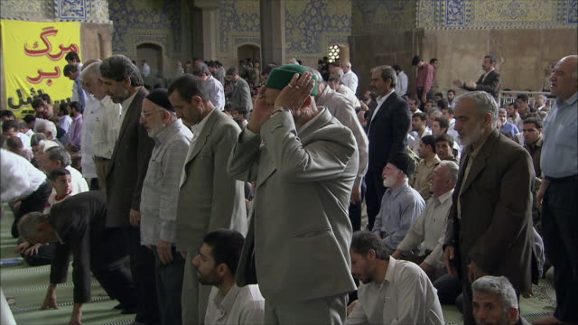 MS Men during Friday prayers in Imam Mosque, Esfahan, Iran