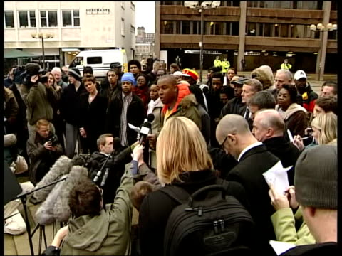 men found guilty of anthony walker murder england liverpool gee walker and family along to court cms side david okoro speaking to press david okoro... - gee walker stock videos & royalty-free footage