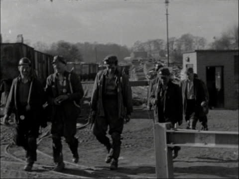 Men Go Back to Work in Yorkshire Mines ENGLAND Yorkshire Barnsley District Miners going into work More ditto More ditto