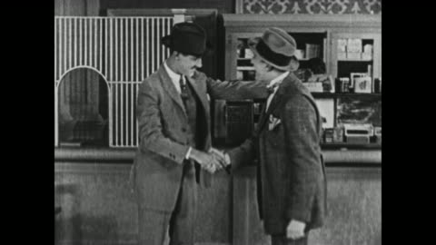 1924 men greet each other, excitedly shaking hands - archival stock videos & royalty-free footage