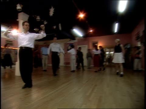 men in ballroom dance class in new york - ballroom dancing stock videos & royalty-free footage