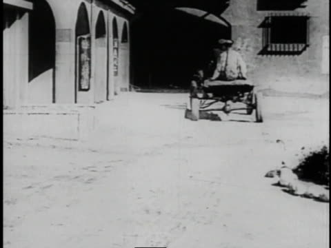 1920 montage men in dilapidated car arriving at chinese restaurant - larry semon stock videos and b-roll footage