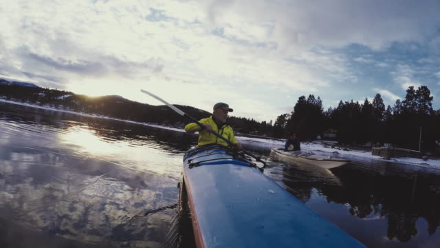 men in kayaks - flathead lake stock videos and b-roll footage