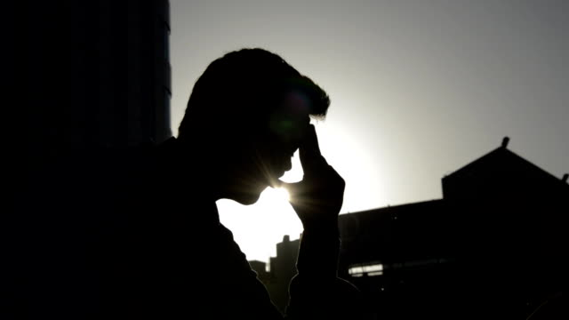 men in stress - silhouette stock videos & royalty-free footage