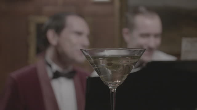 men in tuxedos playing piano and singing - 1930s era reenactment - dinner jacket stock videos & royalty-free footage