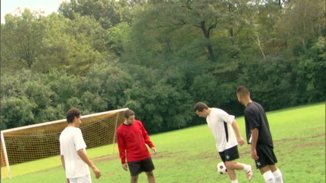men kicking soccer ball - see other clips from this shoot 1280 stock videos & royalty-free footage